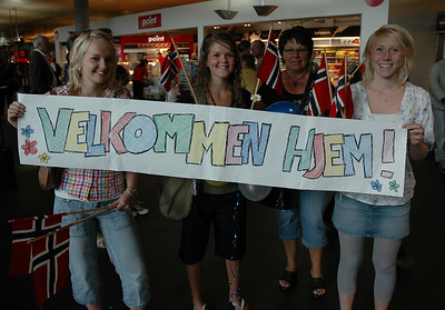 I was given quite a welcome when I arrived.