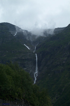 Waterfall in Sunnylvsfjord. Norway.