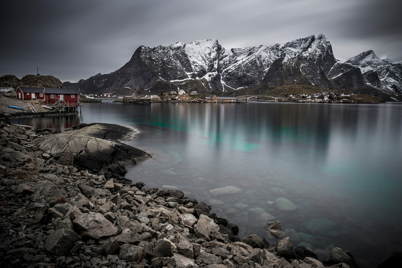 the caribbean waters of the arctic circle | hamnøy, norway