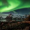 aurora swirlealis   hamnøy, norway