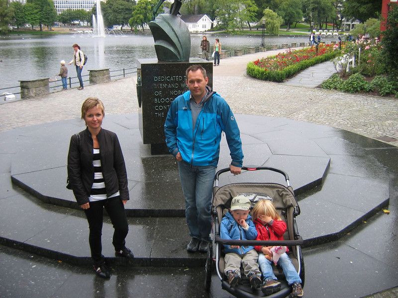 My cousin Janne, her husband Henning, and their twins Marius and Katrine.
