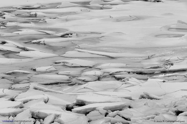 Frozen Lake. Natural Black and White