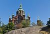 Russian Lispenski Cathedral, Helsinki, Finland