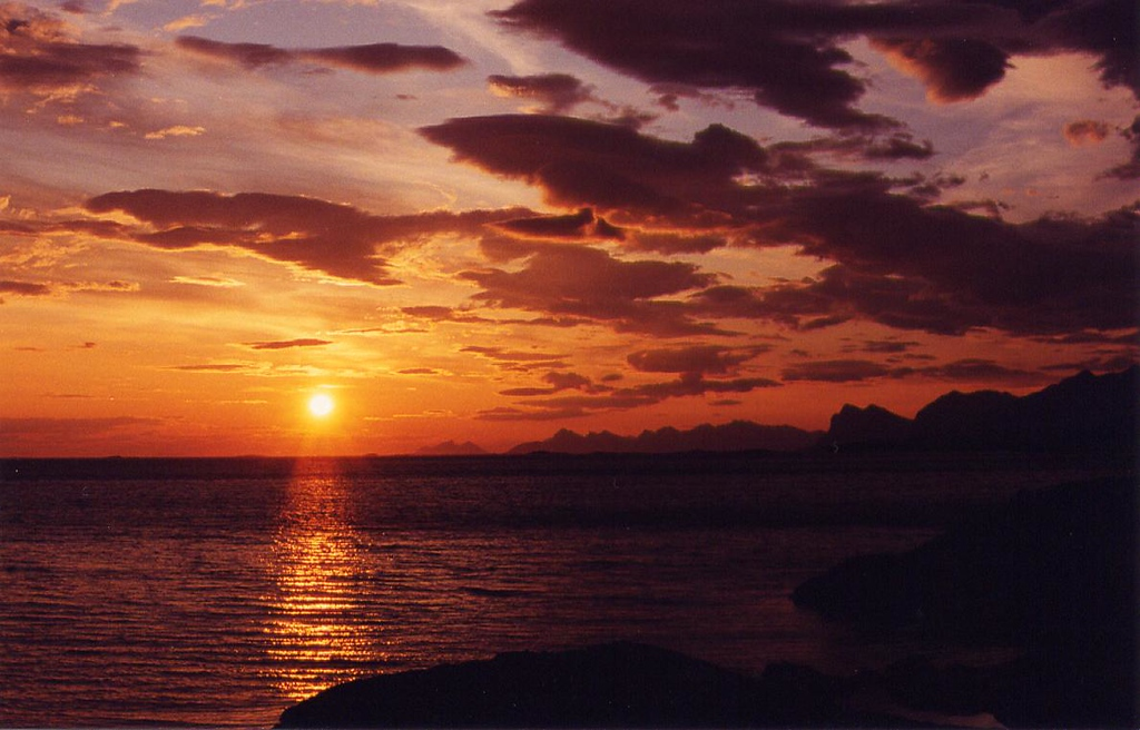 after midnight, Highway 834 north of Bodø - 1995