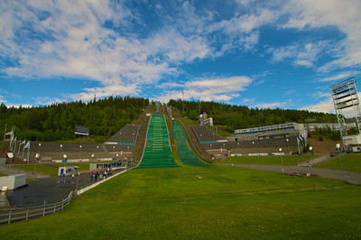Lillehammer Ski Jump built for the 1994 Winter Olympics http://en.wikipedia.org/wiki/1994_Winter_Olympics