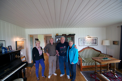 L to R: Elsbet, Lars, Bud Betty at Elsbet's house