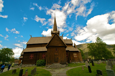 Stave Church in Lom Norway