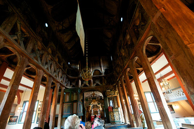 Stave Church in Lom Norway built in 1158