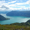 Lustrafjorden, view after climbing up 2000 feet, Nikon D50 and 18-200VR