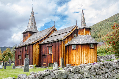 A wooden stave church in Hol