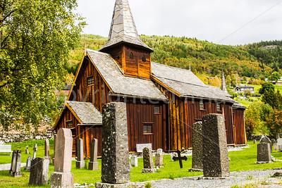 A stave church in Hol