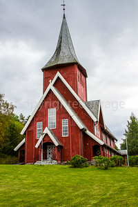 Wooden Church in Hol, Norway