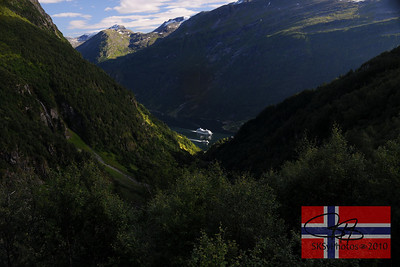 Classic Norwegian view of the Geiranger Fjørd