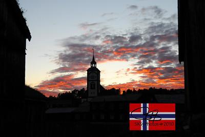 Sunset over Røros, Norway.  July 24, 2010