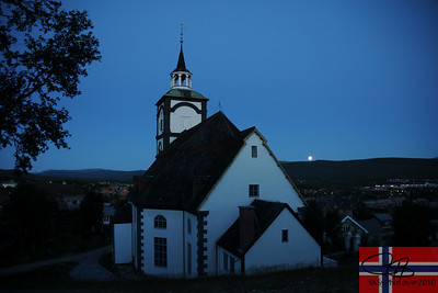 Røros Kyrke at 11:45pm.  July 23, 2010