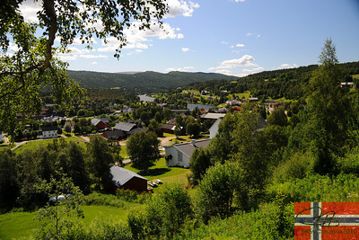 View of Tolga, Norway from the church.