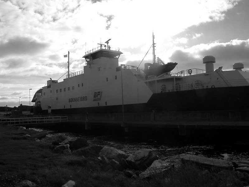 Motor vessel Boknafjord at Mortavika ferry terminal on Rennesoy island, Sept 2005