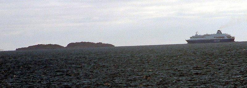 Motor vessel Princess crossing Boknfjord in passage fram Bergen to Stavanger, Sept 20