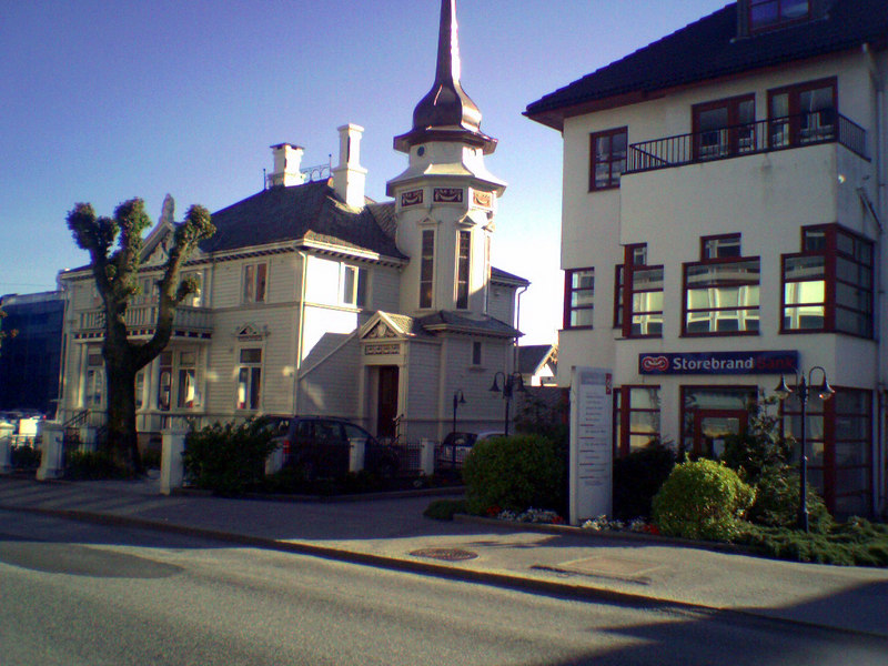 Traditional and newer buildings in Haugesund