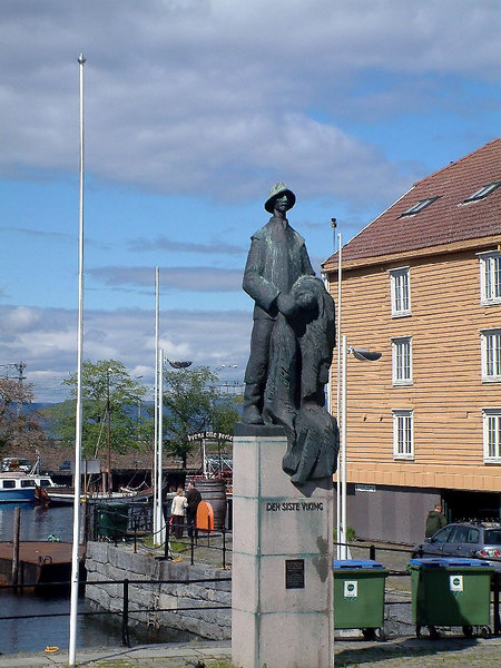 The Last Viking monument, Trondheim