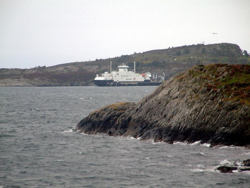 Motor vessel Boknafjord passing at Arsvagen, Sept 2005