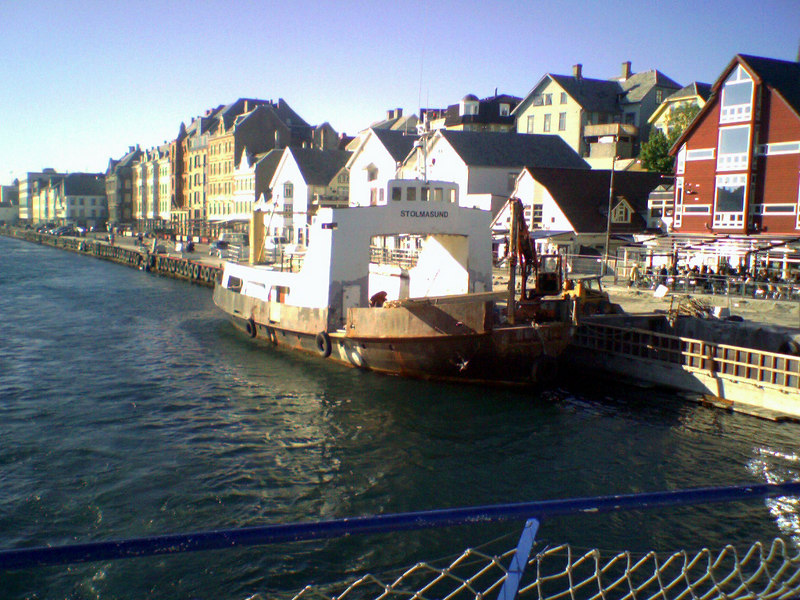 Leaving Haugesund on motor vessel Tjelden for Stavanger, June 2006