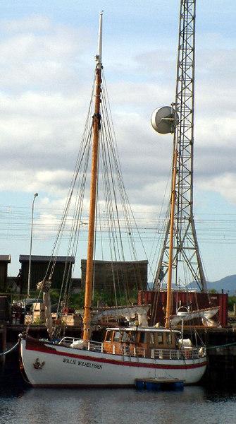 Sailing vessel Willie Wilhelmsen which operates charter sailings in the fjords around Trondheim