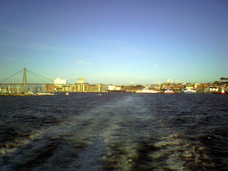 Leaving Stavanger on motor vessel Tjelden to return to Haugesund