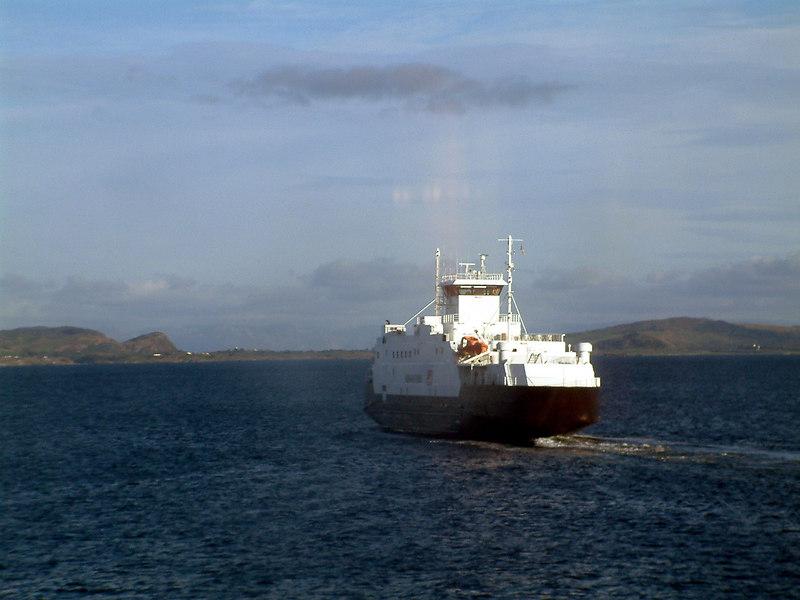 Motor vessel Boknafjord from motor vessel Rennesoy off Arsvagen ferry terminal, Sept 2005