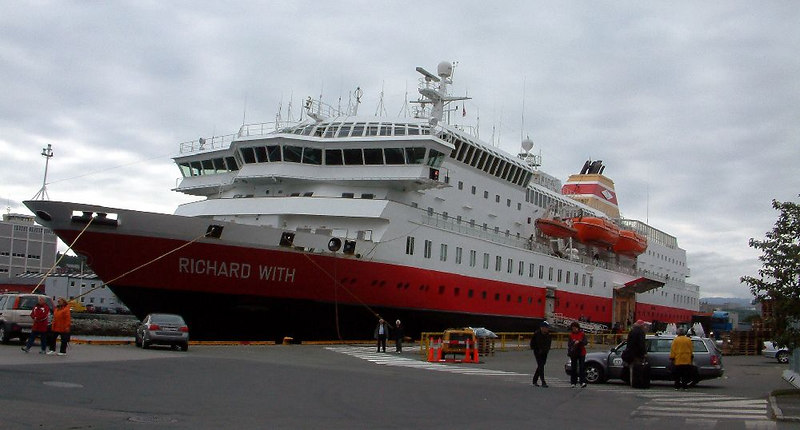 "Motor vessel Richard With at Trondheim Hurtigruten berth, June 2006, heading south to Bergen<br /> <br /> For a picture of MV Richard With arriving at Bode go to<br /> <br />  <a href=""http://en.wikipedia.org/wiki/Image"">http://en.wikipedia.org/wiki/Image</a>:MS_Richard_With_Bod%C3%B8.jpg<br /> (copy and paste this link)"