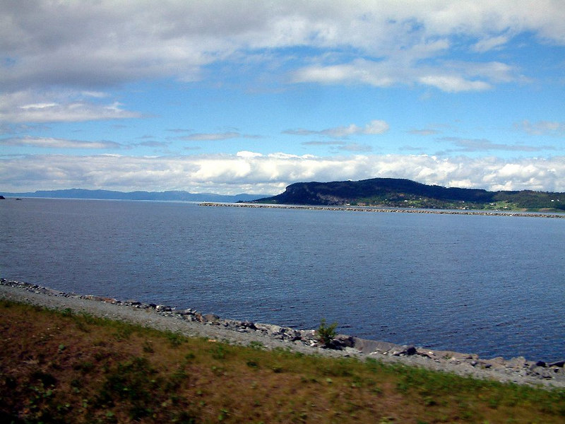 Coastal scenery on the road from Trondheim airport into the city