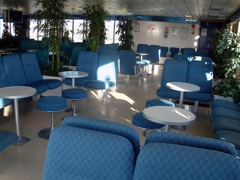 Passenger lounge on motor vessel Rennesoy