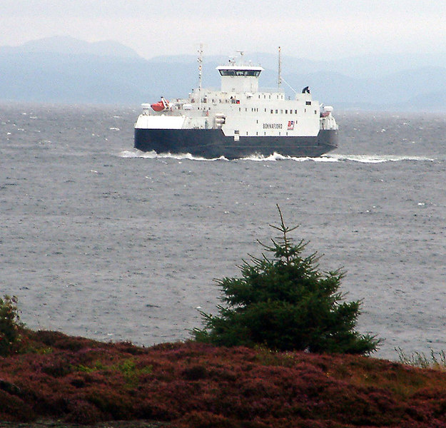 Motor vessel Boknafjord arriving at Arsvagen, Sept 2005
