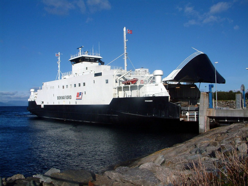 Motor vessel Boknafjord preparing to leave from Mortavika, Sept 2005