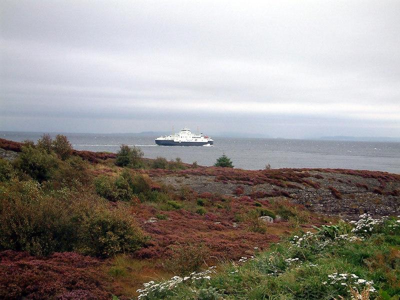 Motor vessel Masfjord leaving Arsvagen for Rennesoy, Sept 2005
