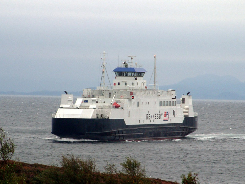 Motor vessel Rennesoy arriving at Arsvagen, Sept 2005