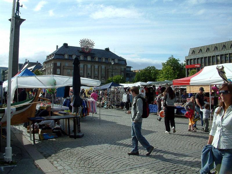 Street market in Trondheim