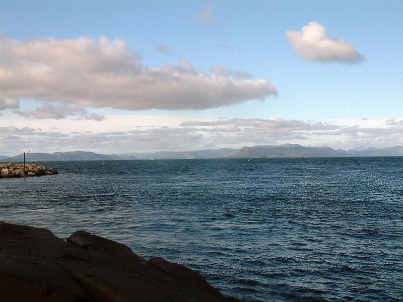 View across Boknafjord from Mortavika towards Karsto