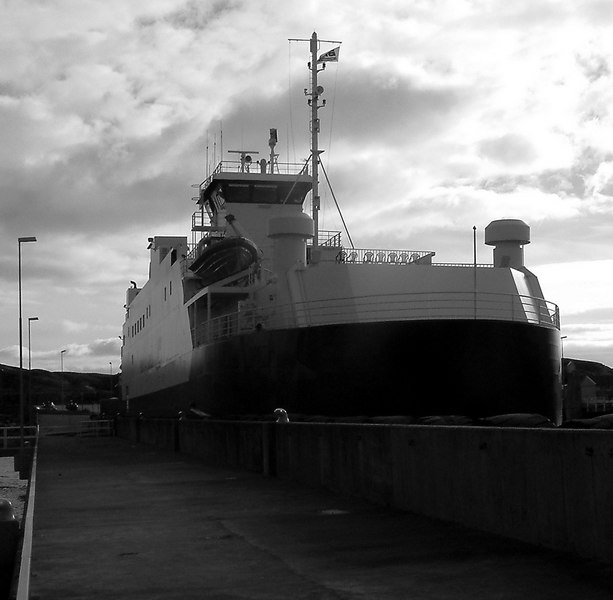 Motor vessel Boknafjord at Mortavika ferry terminal on Rennesoy island, Sept 2005