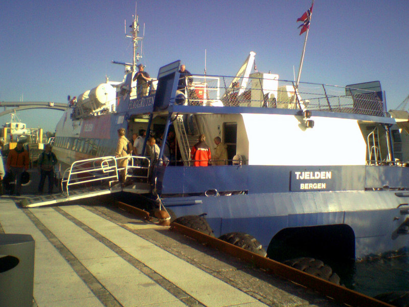 Motor vessel Tjelden at Haugesund on the Bergen - Stavanger coastal service in June 2006