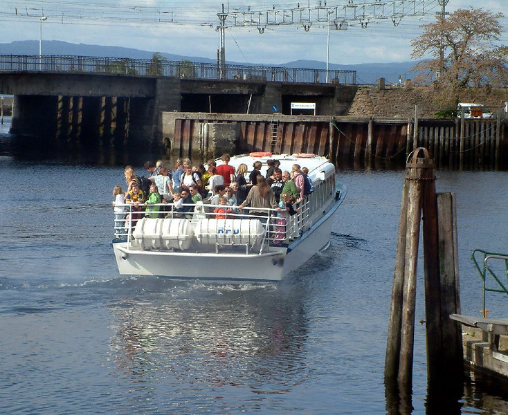 Waterbus which operates local excursions around Trondheim harbour and over to Monks Island