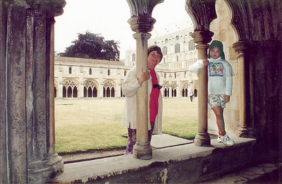 Gill and Lan - the close Norwich cathedral Norwich England - Jun 1996