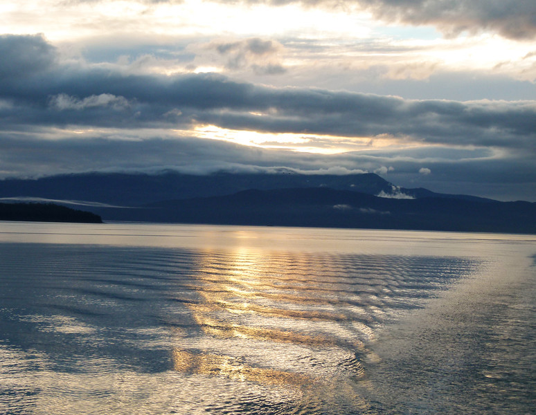 Sunset on the Inside Passage in Alaska