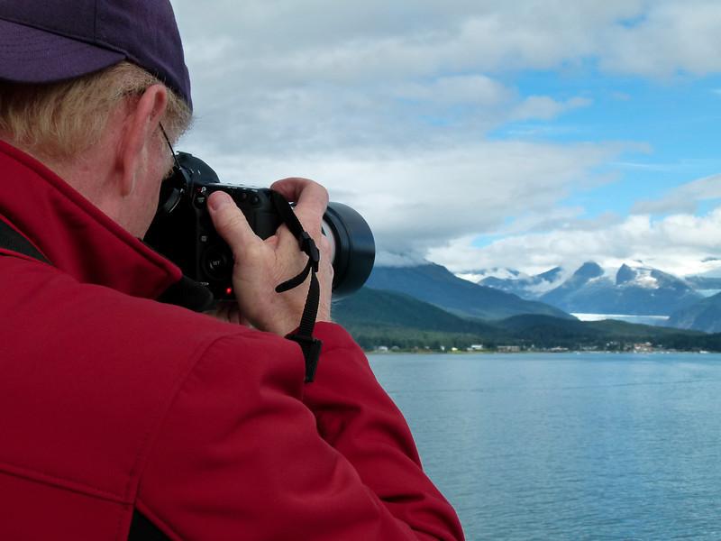 Alan Hull photographing Matanuska Glacier in Juneau Alaska