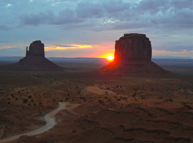 Saturday's scene: Monument Valley sunrise