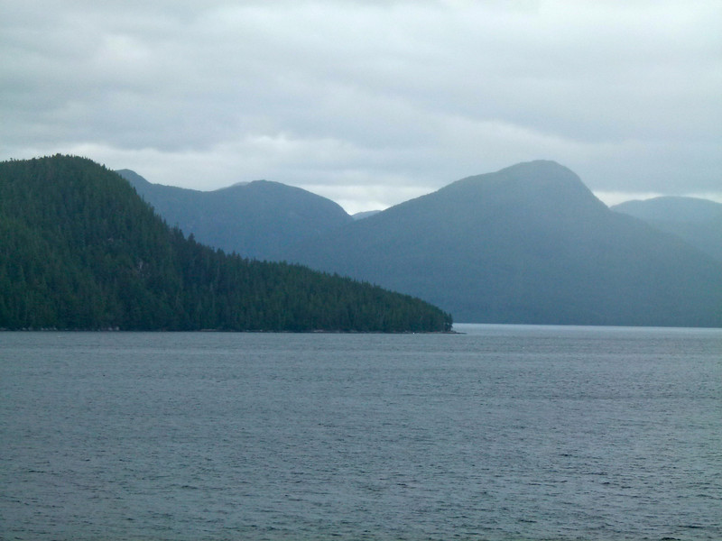 Inside Passage mountain scenery in Canada