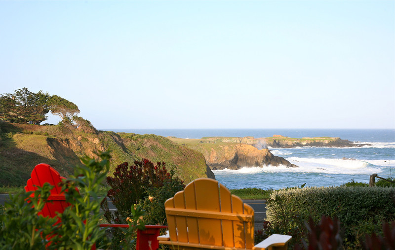 Saturday's scene: relaxing in Mendocino