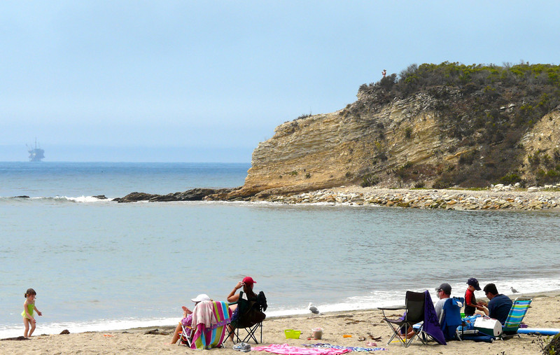 Saturday's scene: relaxing on a California beach