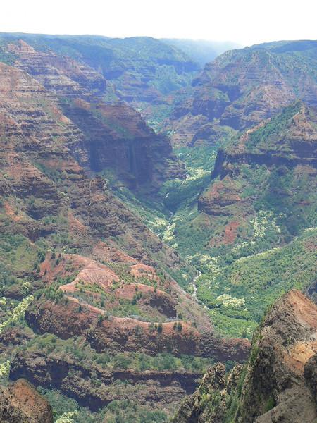 Waimea Canyon on a cloudy day