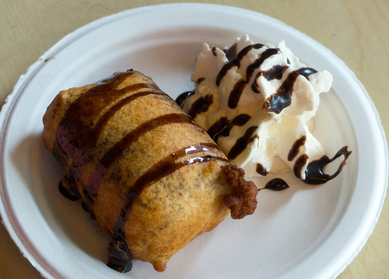 Deep fried Nanaimo Bar from Pirate Chips